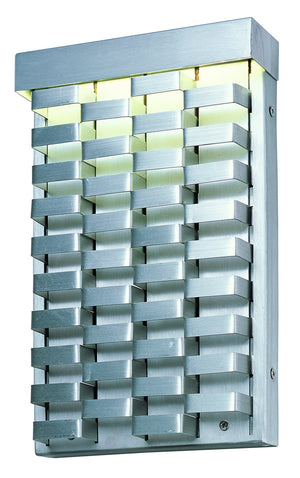 Maxim - 88293AL - LED Outdoor Wall Mount - Weave OD - Brushed Aluminum