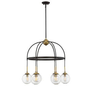 Savoy House - 1-5002-6-79 - Six Light Chandelier - Fulton - English Bronze/Warm Brass