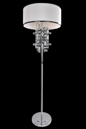 Allegri - 027601-010-FR001 - Three Light Floor Lamp - Vermeer - Chrome