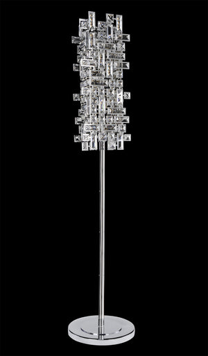 Allegri - 027602-010-FR001 - Four Light Floor Lamp - Vermeer - Chrome