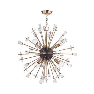 Hudson Valley - 5032-AGB - Six Light Chandelier - Liberty - Aged Brass