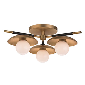 Hudson Valley - 9823-AGB - LED Semi Flush Mount - Julien - Aged Brass