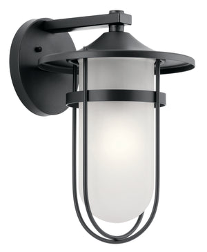 Kichler - 49826BK - One Light Outdoor Wall Mount - Finn - Black