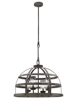 Savoy House - 7-7090-4-49 - Four Light Pendant - Aiken - Winterwood