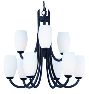 Maxim - 21657SWTXB - Nine Light Chandelier - Taylor - Textured Black