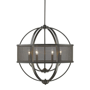 Golden - 3167-6 EB-EB - Six Light Chandelier - Colson EB - Etruscan Bronze