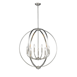 Golden - 3167-9 PW - Nine Light Chandelier - Colson PW - Pewter