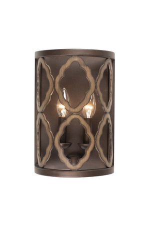 Kalco - 504821BS - Two Light Wall Sconce - Whittaker - Brownstone