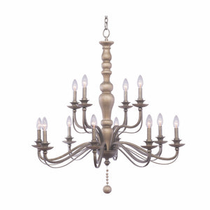 Kalco - 506353DS - 12 Light Chandelier - Colony - Dune Silver
