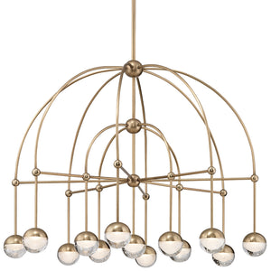 Hudson Valley - 1233-AGB - LED Chandelier - Boca - Aged Brass