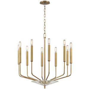 Hudson Valley - 2610-AGB - Ten Light Chandelier - Gideon - Aged Brass