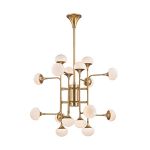 Hudson Valley - 4716-AGB - LED Chandelier - Fleming - Aged Brass