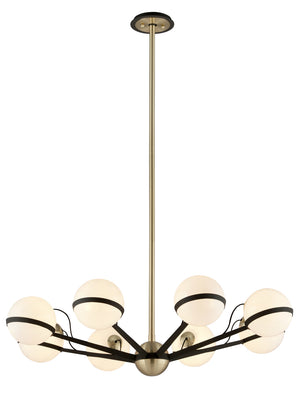 Troy Lighting - F5304 - Eight Light Chandelier - Ace - Textured Bronze Brushed Brass