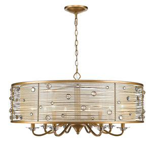 Golden - 1993-8 PG - Eight Light Chandelier - Joia PG - Peruvian Gold