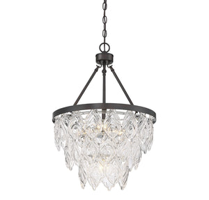 Savoy House - 7-9291-5-13 - Five Light Pendant - Granby - English Bronze