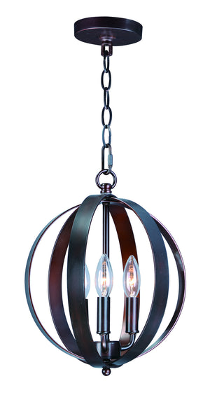 Maxim - 10030OI - Three Light Chandelier - Provident - Oil Rubbed Bronze