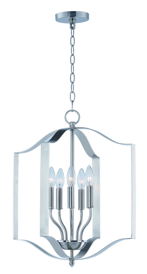 Maxim - 10037SN - Five Light Chandelier - Provident - Satin Nickel