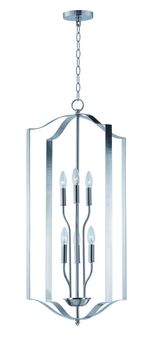 Maxim - 10038SN - Six Light Chandelier - Provident - Satin Nickel