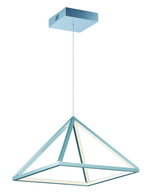 ET2 - E20816-PC - LED Pendant - Pyramid - Polished Chrome
