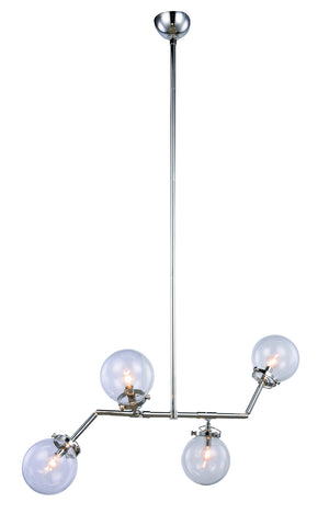 Elegant Lighting - 1507G40PN - Four Light Chandelier - Leda - Polished Nickel
