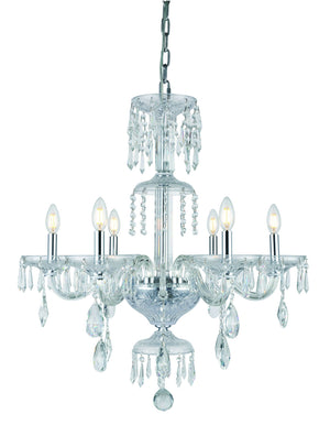 Elegant Lighting - 7873D27C/RC - Six Light Chandelier - Elliott - Chrome