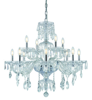 Elegant Lighting - 7873G33C/RC - 12 Light Chandelier - Elliott - Chrome