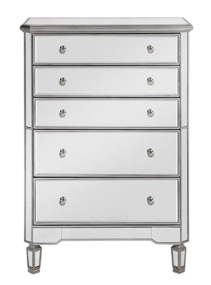 Elegant Lighting - MF6-1026S - Five Drawer Cabinet - Contempo - Hand Rubbed Antique Silver