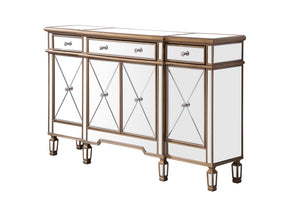 Elegant Lighting - MF6-1101GC - Three Drawer Four Door Cabinet - Contempo - Hand Rubbed Antique Gold