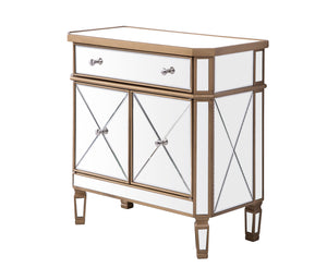 Elegant Lighting - MF6-1102GC - One Drawer Two Door Cabinet - Contempo - Hand Rubbed Antique Gold
