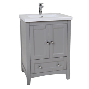 Elegant Lighting - VF-2002 - 24``Single Bathroom Vanity set - Saturn - Medium Grey