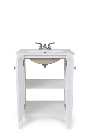 Elegant Lighting - VF-2003 - 24``Single Bathroom Vanity set - Mod - White