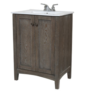 Elegant Lighting - VF-2004 - 24``Single Bathroom Vanity set - Xylem - Weathered Oak