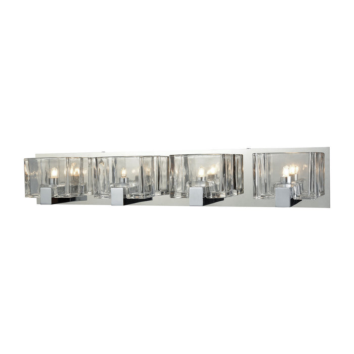 "Elk Lighting Four Light Vanity 28.00"" Polished Chrome"