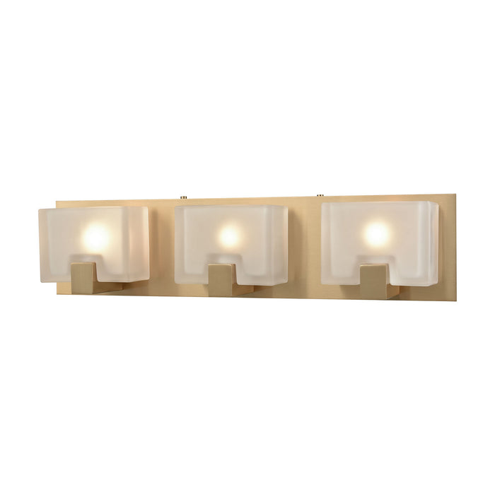 "Elk Lighting Three Light Vanity 21.00"" Satin Black"