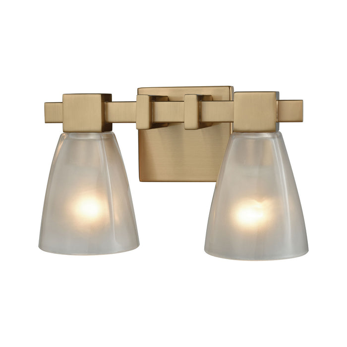 "Elk Lighting Two Light Vanity 12.00"" Satin Black"