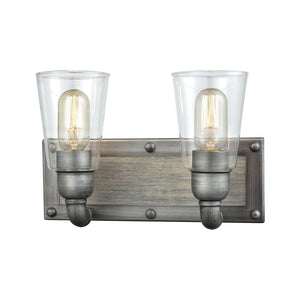 Elk Lighting - 14471/2 - Two Light Vanity - Platform - Weathered Zinc