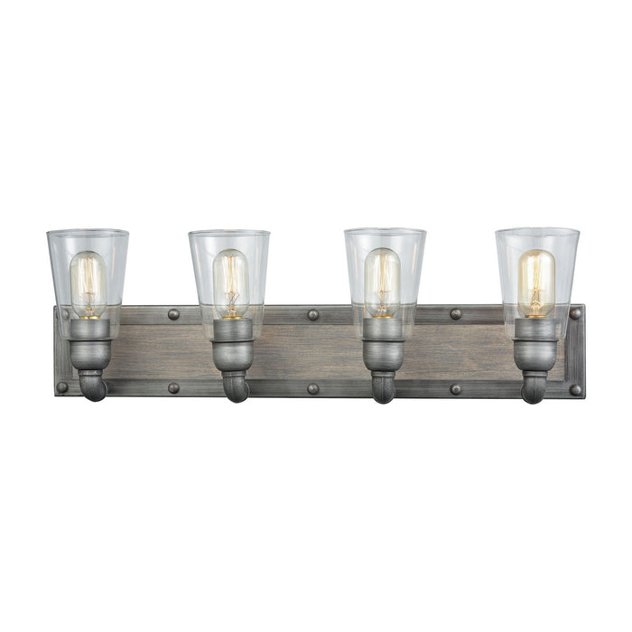 "Elk Lighting Four Light Vanity 27.00"" Weathered Zinc"