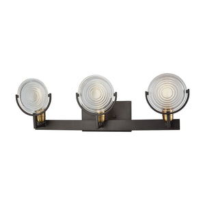 Elk Lighting - 14502/3 - Three Light Vanity - Ocular - Oil Rubbed Bronze, Satin Brass