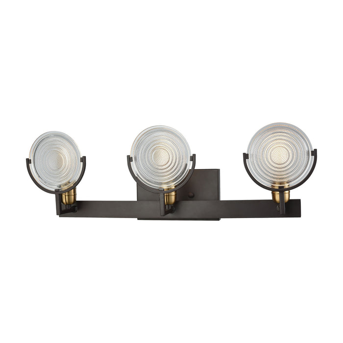 "Elk Lighting Three Light Vanity 26.00"" Oil Rubbed Bronze, Satin Brass"