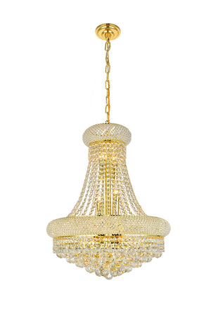 Elegant Lighting - V1800D20G/SS - 14 Light Chandelier - Primo - Gold