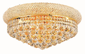 Elegant Lighting - V1800F20G/SS - Ten Light Flush Mount - Primo - Gold