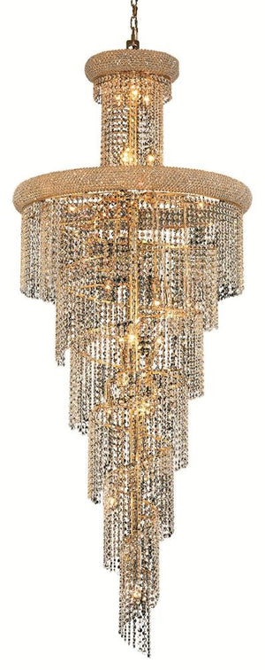 Elegant Lighting - V1800SR30G/SA - 28 Light Chandelier - Spiral - Gold