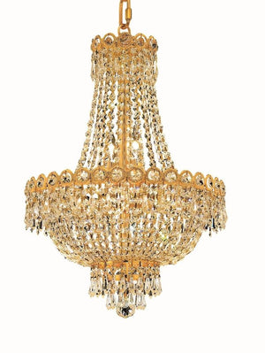 Elegant Lighting - V1900D16G/SS - Eight Light Pendant - Century - Gold
