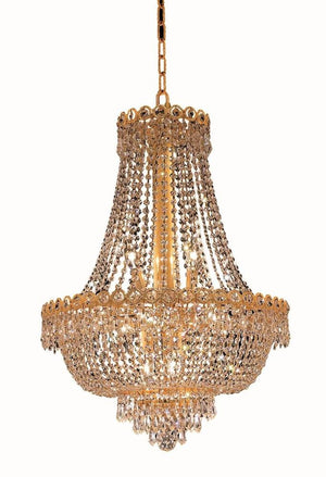 Elegant Lighting - V1900D20G/RC - 12 Light Chandelier - Century - Gold