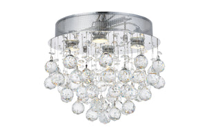 Elegant Lighting - V2006F14C/SS - Four Light Flush Mount - Galaxy - Chrome