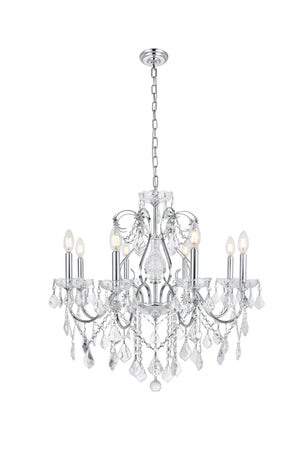 Elegant Lighting - V2015D26C/EC - Eight Light Chandelier - St. Francis - Chrome