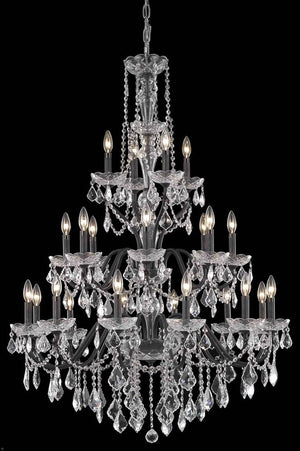 Elegant Lighting - V2015G36DB/RC - 24 Light Chandelier - St. Francis - Dark Bronze