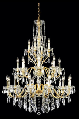 Elegant Lighting - V2015G36G/SS - 24 Light Chandelier - St. Francis - Gold