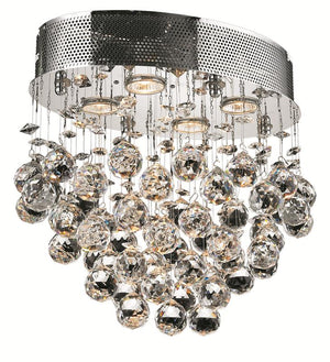 Elegant Lighting - V2022F16C/RC - Four Light Flush Mount - Galaxy - Chrome