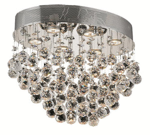 Elegant Lighting - V2022F20C/EC - Six Light Flush Mount - Galaxy - Chrome